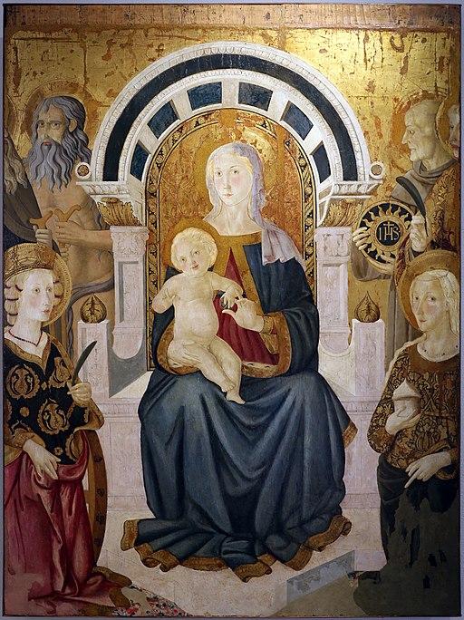 Pier francesco fiorentino, madonna col bambino e santi, 1470-90 ca. 01