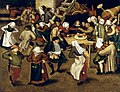Pieter Brueghel II - Peasant Wedding , 1620 (National Gallery of Ireland).jpg