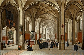 Pieter Neefs the Elder -  Interior of a Gothic Church