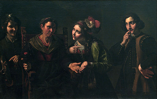 Pietro Paolini - The Fortune Teller - Google Art Project