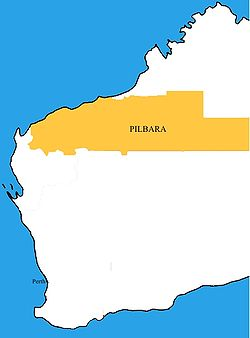The Pilbara region according to the Regional Development Commissions Act 1993