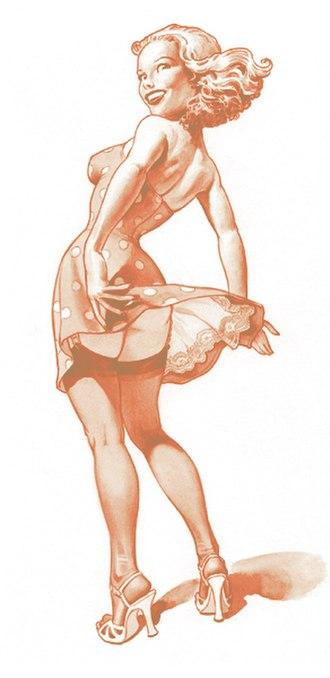 Upskirt - Pin up girl