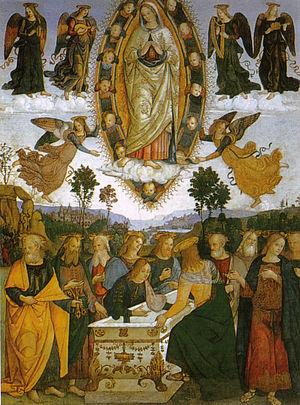 Basso Della Rovere Chapel (Santa Maria del Popolo) - Image: Pinturicchio, assunzione della vergine della cappella basso della rovere