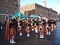 Pipe Band at Dockyard Christmas Celebrations - geograph.org.uk - 648664.jpg