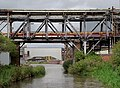 Pipe bridges north of Rudheath, Cheshire - geograph.org.uk - 2720705.jpg