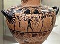 Pittore dell'aquila, hydria ceretana con vendemmia, prodotta da artigiani ionici a cerveteri, 520-530 ac ca., dalla tomba I alla banditaccia 02.jpg