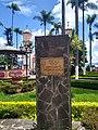 Placa en recuerdo del Fuego Olímpico de 1968 en Parque de Coscomatepec, Veracruz 04.jpg