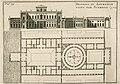 Plan of the Laurentian Villa, Félibien, André, sieur des Avaux et de Javersy, 1706, Scamozzi, Vincenzo, The New York Botanical Garden, fair use.jpg