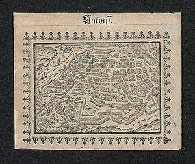 Plan van Antwerpen en de citadel (3)
