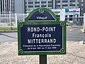 Plaque rond-point François Mitterrand Villejuif 2.jpg