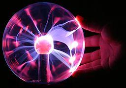 Plasma lamp touching