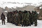 Platoon of ANA soldiers at a rescue operation in 2005