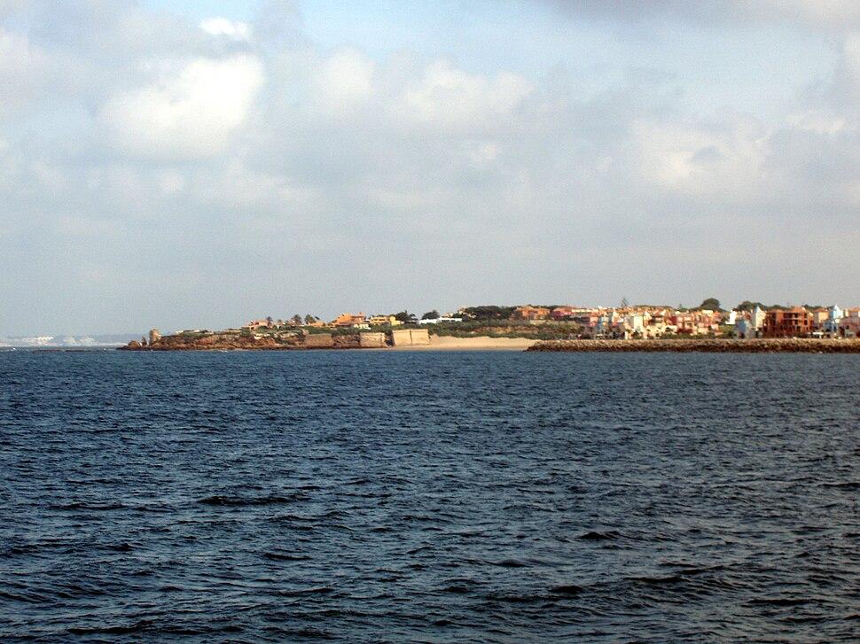 Playa de la Muralla desde el mar