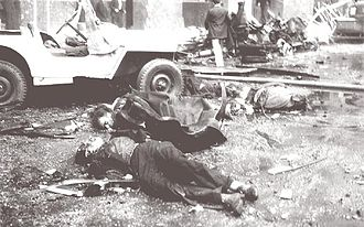 Revolución Libertadora - Civilian casualties after the massacre on Plaza de Mayo, 1955