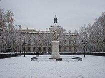 Plaza de la Villa de París—Snow01.JPG