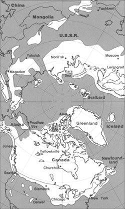 Pleistocene north ice map