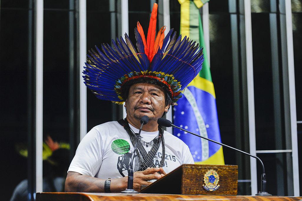 Em discurso, Antenor Karitiana. Foto: Moreira Mariz/Agência Senado Wikipedia