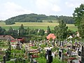Počepice, hřbitov, rybník Návesník a Počepická hora.jpg