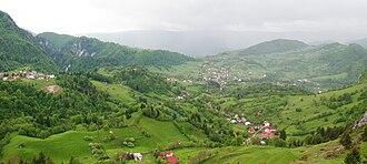Bucegi Mountains -  Podu Dâmboviţei village, in the Dâmbovicioara commune, in the Rucăr-Bran Corridor