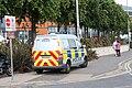 Police van, Belfast, June 2010.JPG