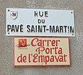 Pollestres street sign.jpg