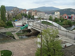 Bridge over the Ibar, which divides the city in two.