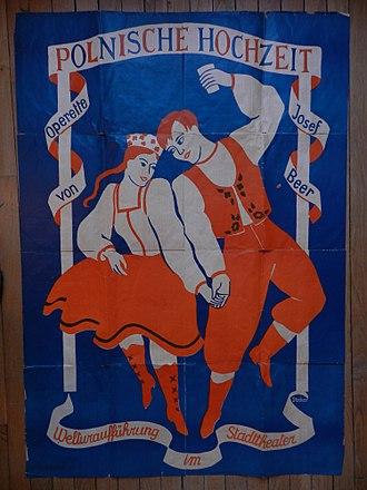 Joseph Beer - Image: Poster Polnische Hochzeit Premiere Color Photo Suzanne