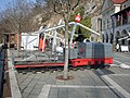 Postojna-cave train in front of entrance.jpg