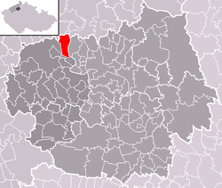 Location of Prackovice nad Labem