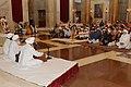 Pranab Mukherjee, the Vice President, Shri Mohd. Hamid Ansari and the Prime Minister, Shri Narendra Modi during the Gurbani Recital on the occasion of the 546th birth anniversary of Guru Nanak Dev Ji, at Rashtrapati Bhavan.jpg