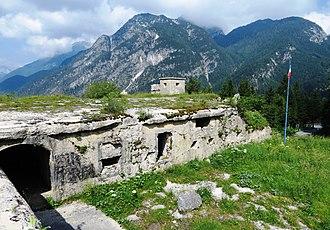 Predil Pass - Image: Predil Pass Italian fort