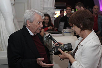 Predrag Matvejević - Predrag Matvejević giving an interview in 2010