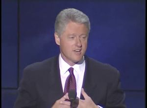 1996 Democratic National Convention - Bill Clinton delivering his renomination speech
