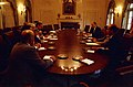 President Gerald R. Ford Meeting with Economic Advisers in the Cabinet Room - NARA - 45644295.jpg