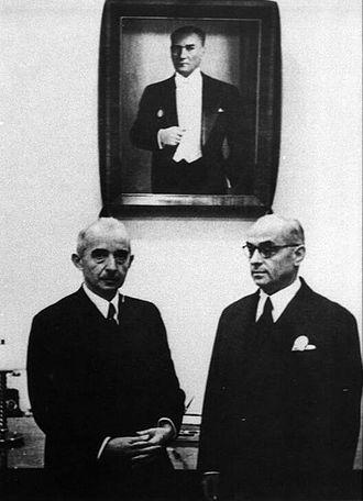 Celâl Bayar - İsmet İnönü and Celal Bayar in 1938.