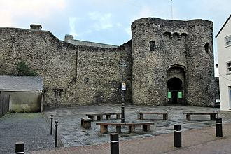 Carmarthen - Carmarthen Castle, main gateway