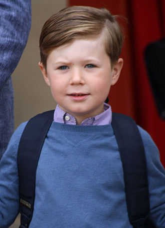 Prince Christian of Denmark - Prince Christian on his first day of school in August 2011