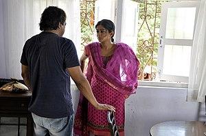 Priyamani - Priyamani during the filming of Rakta Charitra