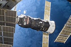 Progress M-03M - Progress M-03M is docked to the ISS