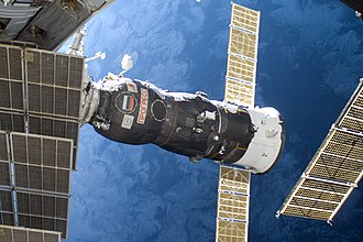 Progress M-03M - Progress M-03M is docked to the ISS