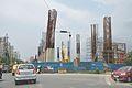 Proposed Hemanta Mukherjee Metro Station Under Construction - Eastern Metropolitan Bypass - Kolkata 2016-06-23 5110.JPG