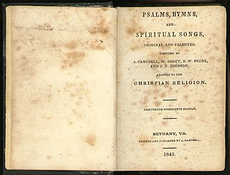 Churches of Christ - Psalms, Hymns and Spiritual Songs (1843, 13th stereotype ed.)