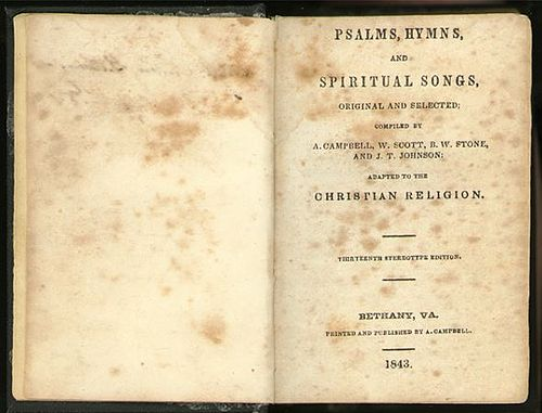 Psalms, Hymns and Spiritual Songs (1843, 13th stereotype ed.) Psalms, Hymns and Spiritual Songs 1843, 13th stereotype ed..JPG