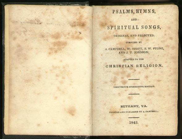 Psalms, Hymns and Spiritual Songs 1843, 13th stereotype ed.