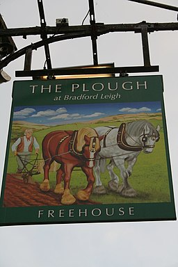 Pub Sign, The Plough - geograph.org.uk - 1463437