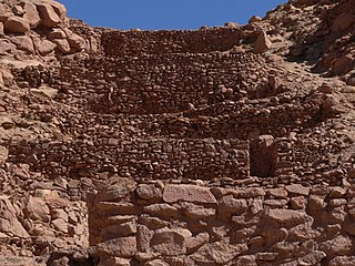 ruin of fortifications made by the natives of the central Andean cultures