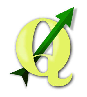 English: Logo graphic for the Quantum GIS free...
