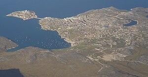 Qasigiannguit - Aerial view of Qasigiannguit