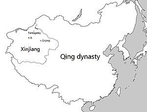 Xinjiang under Qing rule - Xinjiang within the Qing dynasty in 1820.