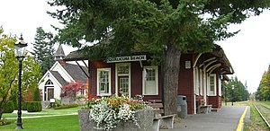 Qualicum Beach - Railway Station, Qualicum Beach